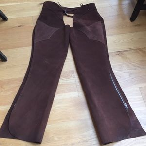 Accessories - Brown Suede Chaps